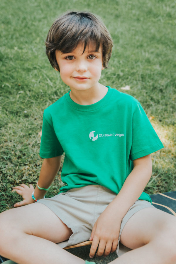 niño-camiseta-santuario-vegan