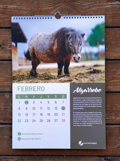 calendario 2021 santuario vegan a3