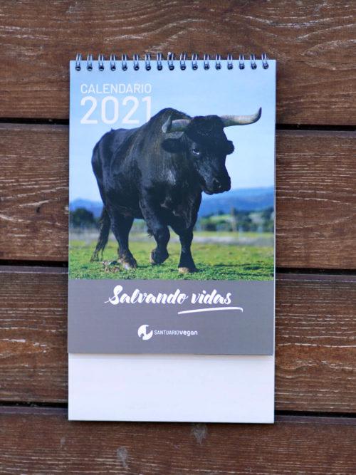 calendario 2021 santuario vegan sobremesa