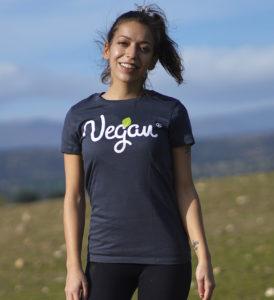 camiseta chica vegan