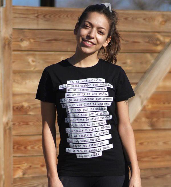 camiseta no como animales chica