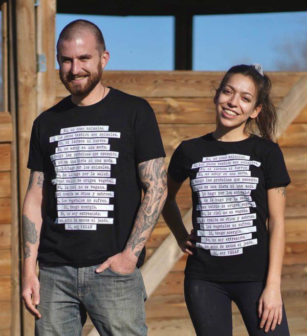 camiseta no como animales chico