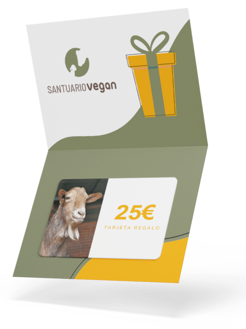 santuario vegan tarjeta regalo 25 euros